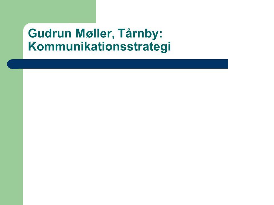 Gudrun Møller, Tårnby: Kommunikationsstrategi