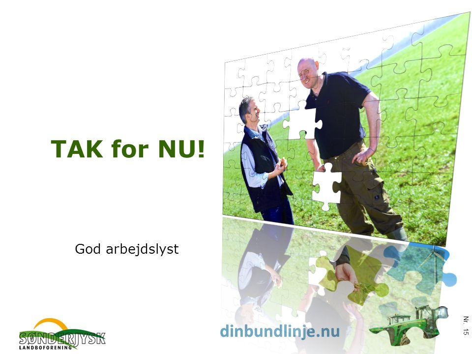 www.slf.dk dinbundlinje.nu TAK for NU! God arbejdslyst Nr. 15