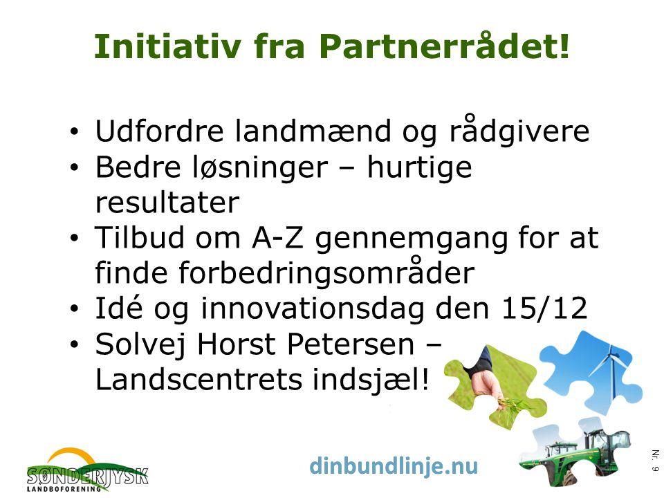 www.slf.dk dinbundlinje.nu Initiativ fra Partnerrådet.