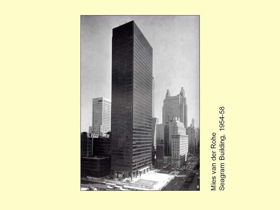Mies van der Rohe Seagram Building, 1954-58