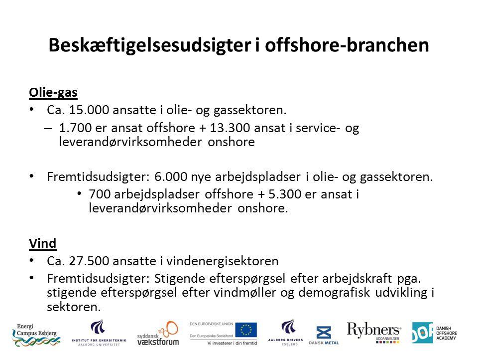 Beskæftigelsesudsigter i offshore-branchen Olie-gas Ca.