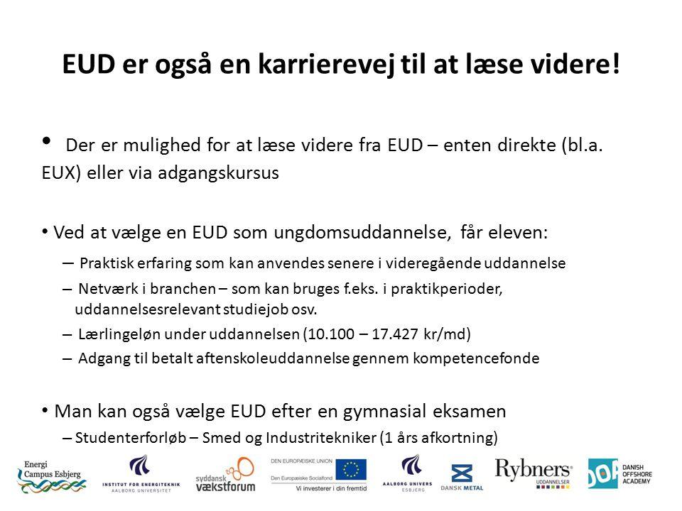 EUD er også en karrierevej til at læse videre.
