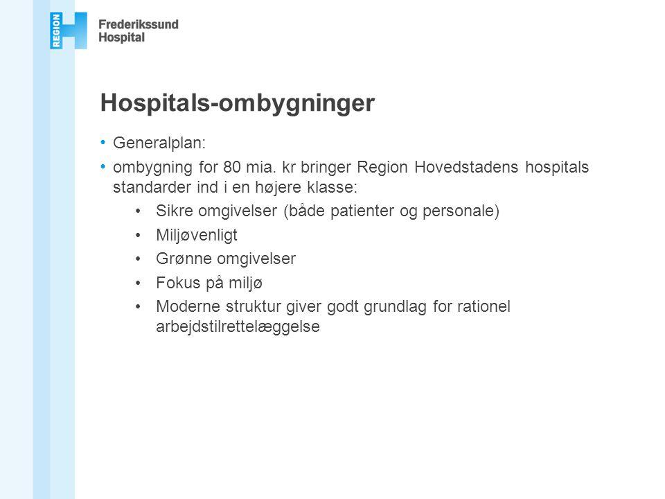 Hospitals-ombygninger Generalplan: ombygning for 80 mia.