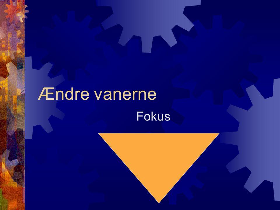 Ændre vanerne Fokus