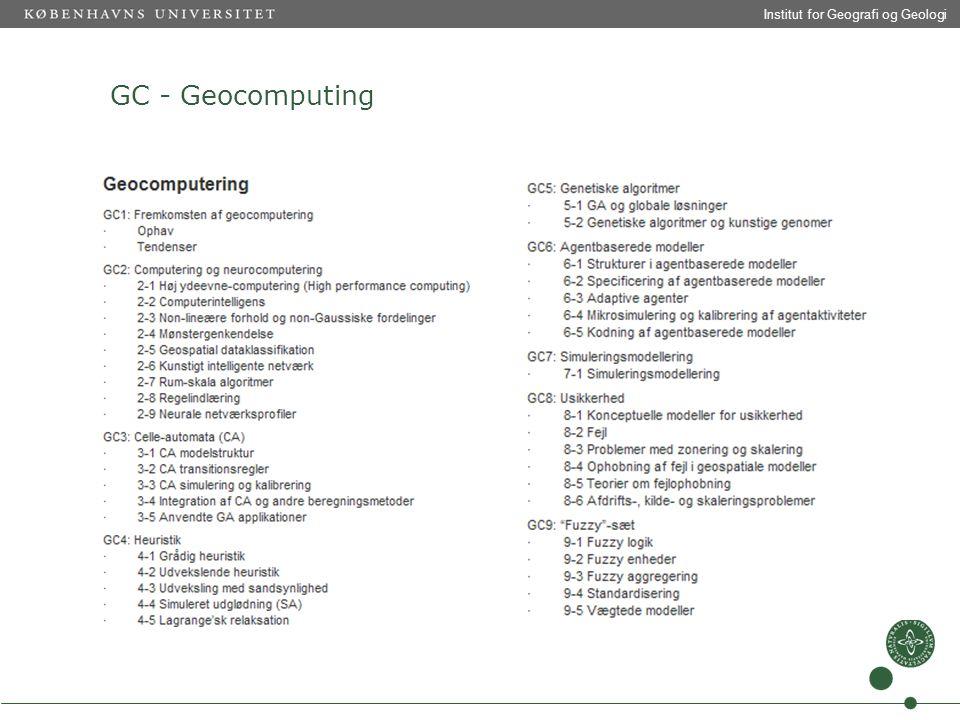 Institut for Geografi og Geologi GC - Geocomputing