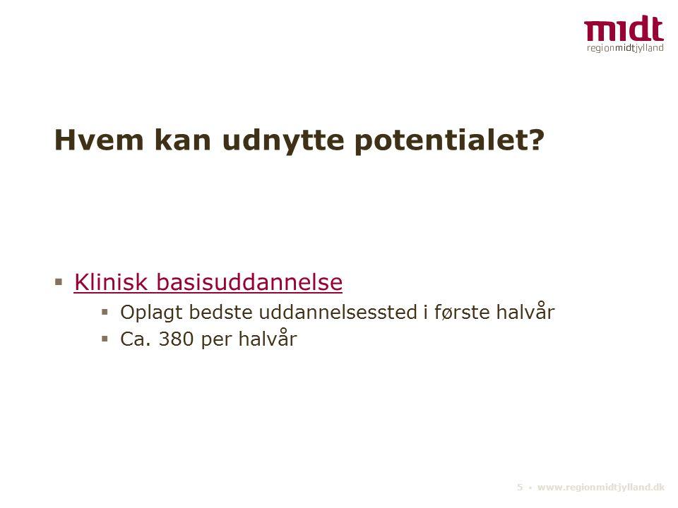 5 ▪ www.regionmidtjylland.dk Hvem kan udnytte potentialet.