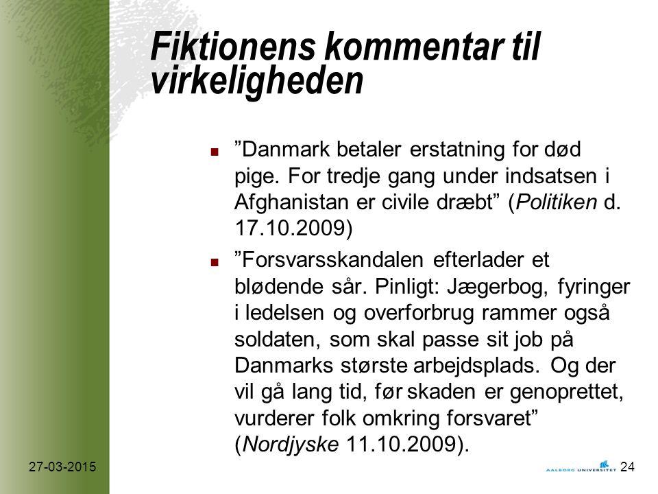 Fiktionens kommentar til virkeligheden Danmark betaler erstatning for død pige.