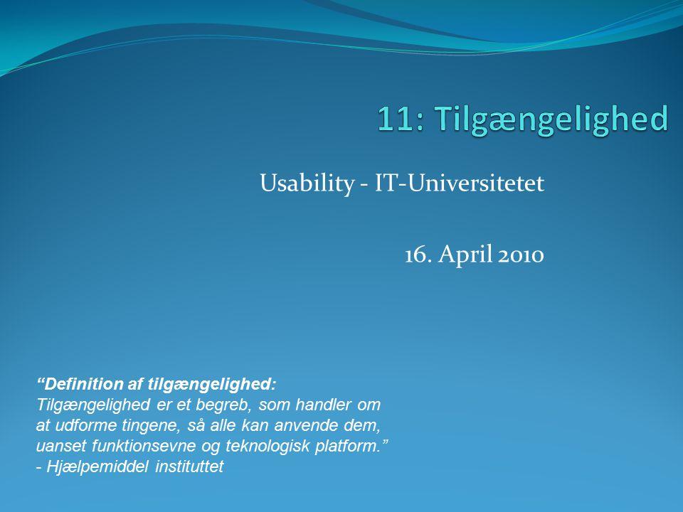 Usability - IT-Universitetet 16.