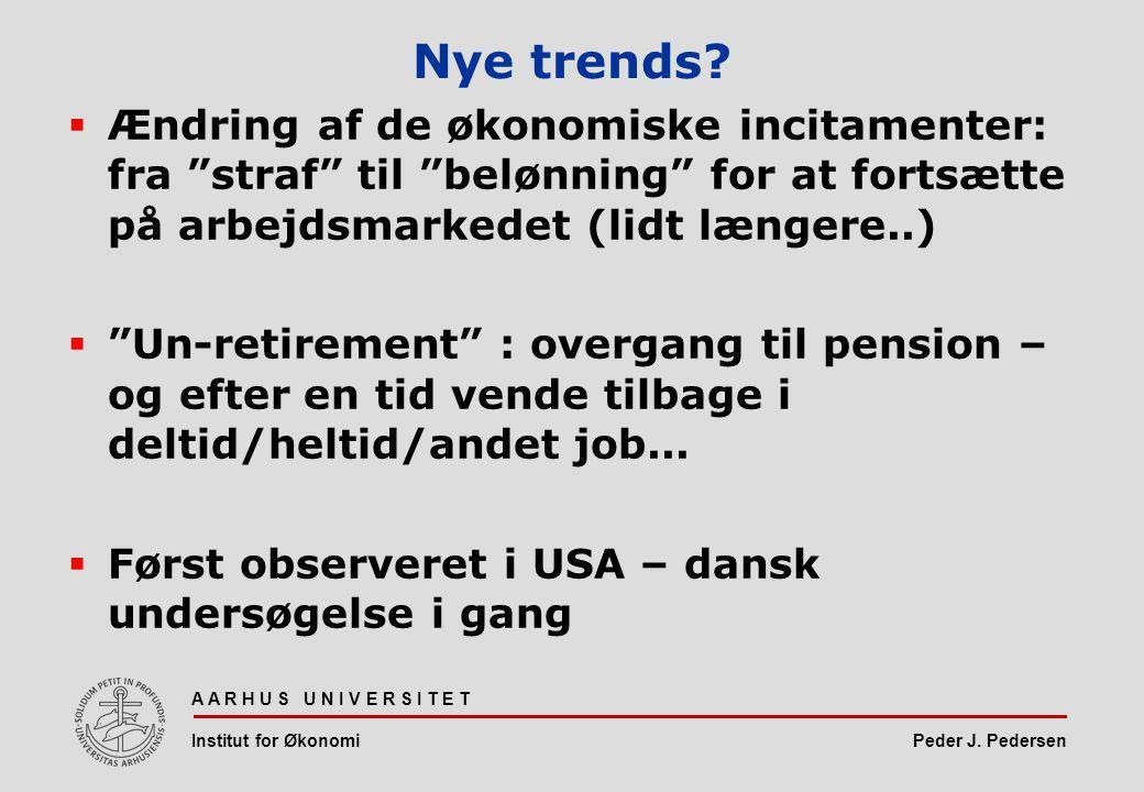 Peder J. Pedersen Nye trends.