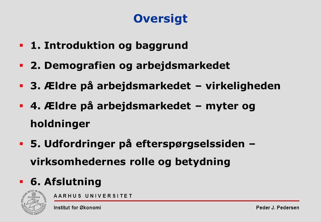 Peder J. Pedersen A A R H U S U N I V E R S I T E T Institut for Økonomi Oversigt  1.
