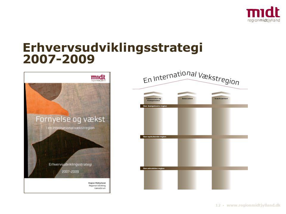 12 ▪ www.regionmidtjylland.dk Erhvervsudviklingsstrategi 2007-2009