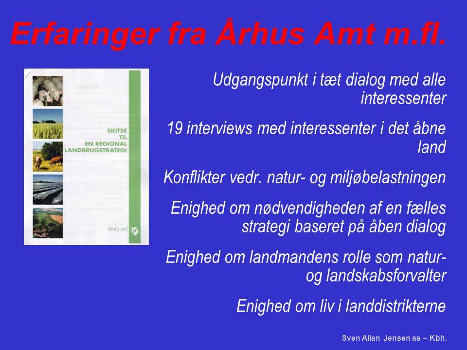 Sven Allan Jensen as – Kbh. Erfaringer fra Århus Amt m.fl.