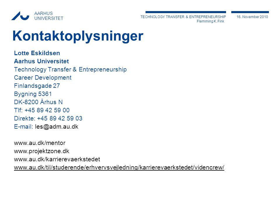 TECHNOLOGY TRANSFER & ENTREPRENEURSHIP Flemming K.