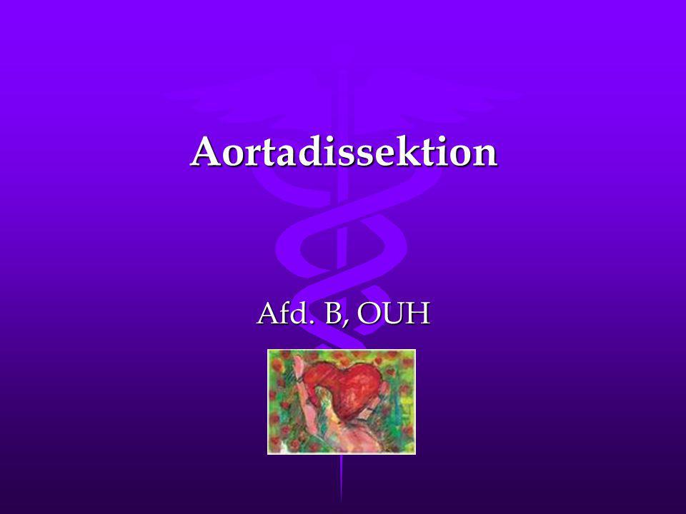 Sygepleje.til patienten med aortadissektion – type B Vurdering.Vurdering.