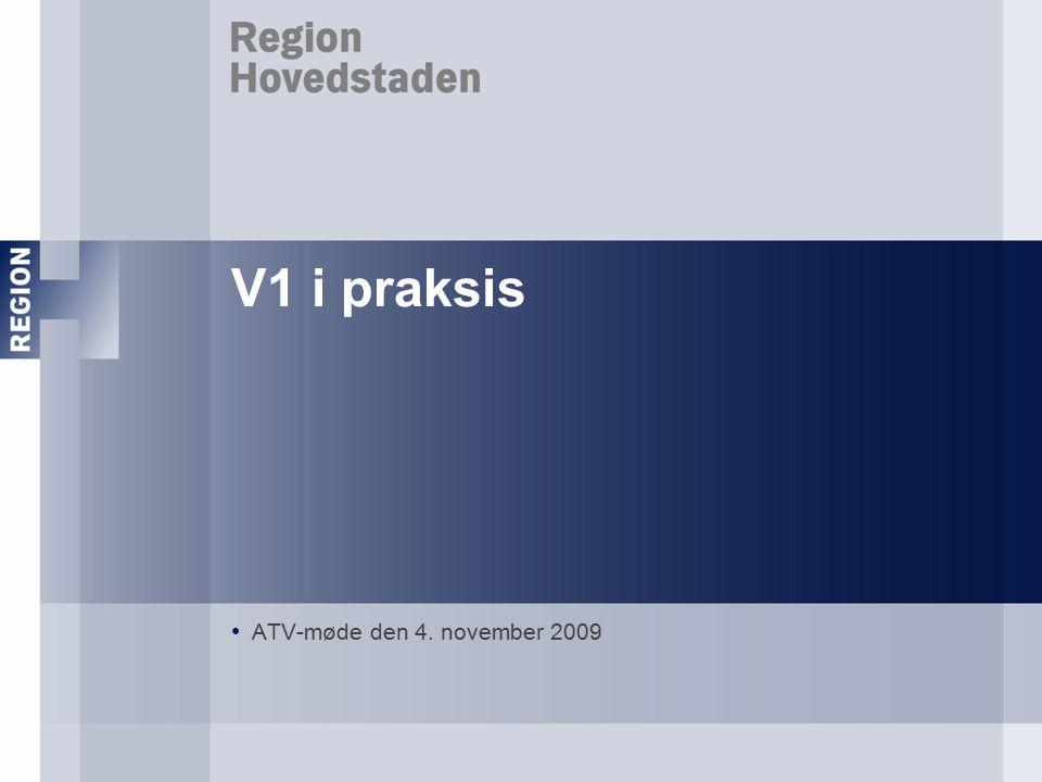 V1 i praksis ATV-møde den 4. november 2009