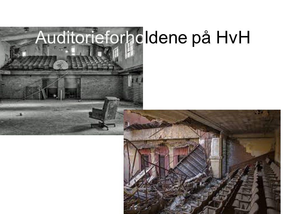 Auditorieforholdene på HvH
