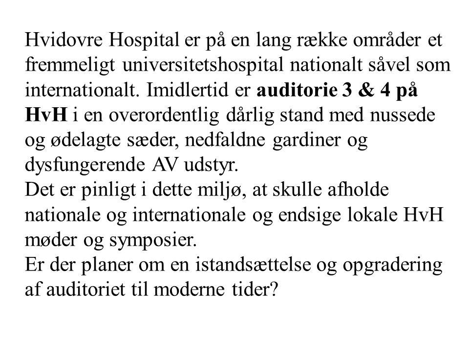 Hvidovre Hospital er på en lang række områder et fremmeligt universitetshospital nationalt såvel som internationalt.