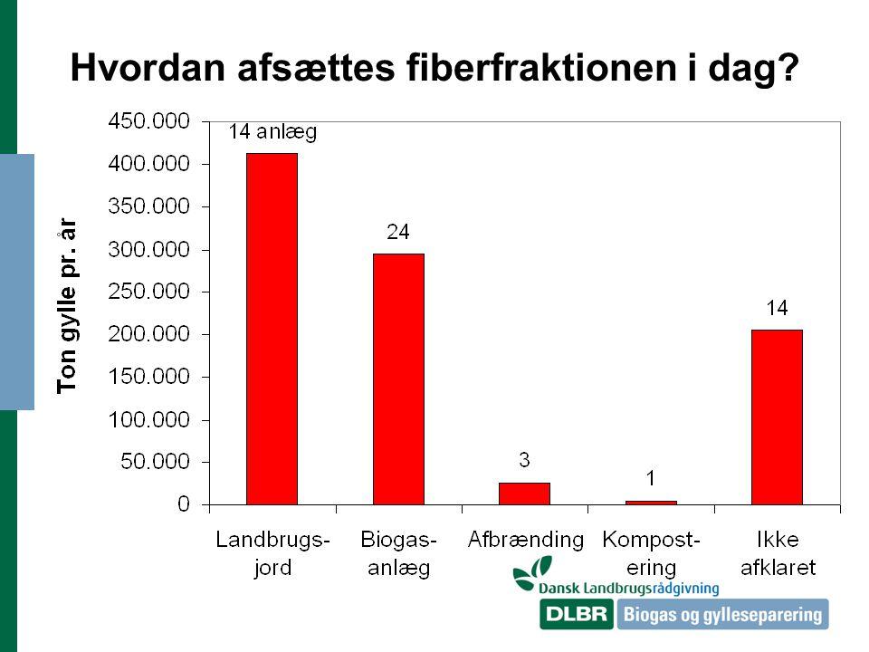 Hvordan afsættes fiberfraktionen i dag