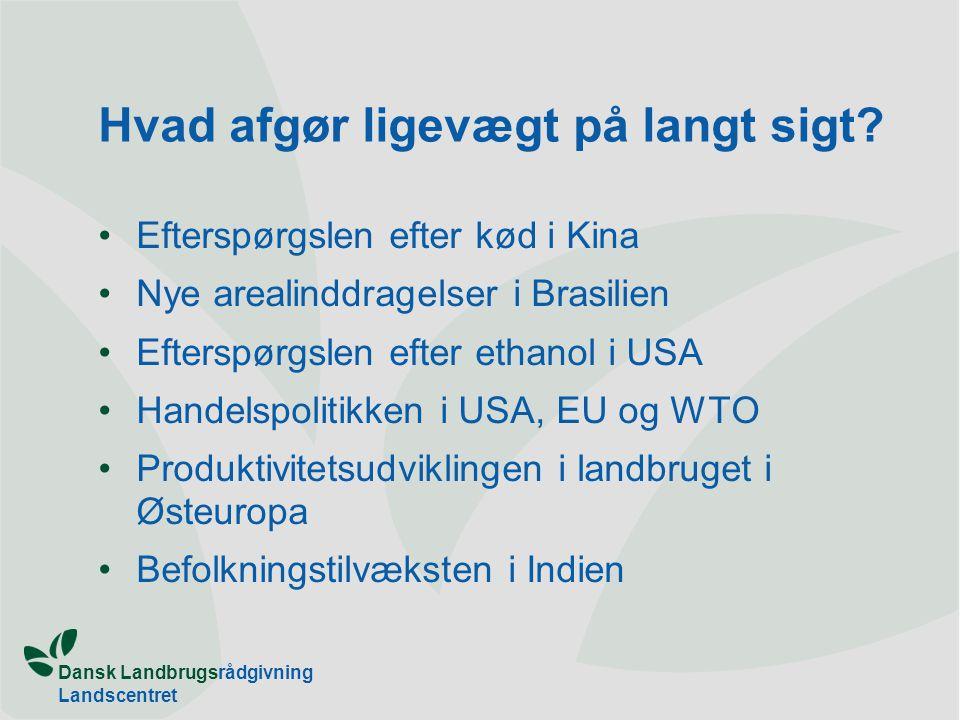 Dansk Landbrugsrådgivning Landscentret Hvad afgør ligevægt på langt sigt.