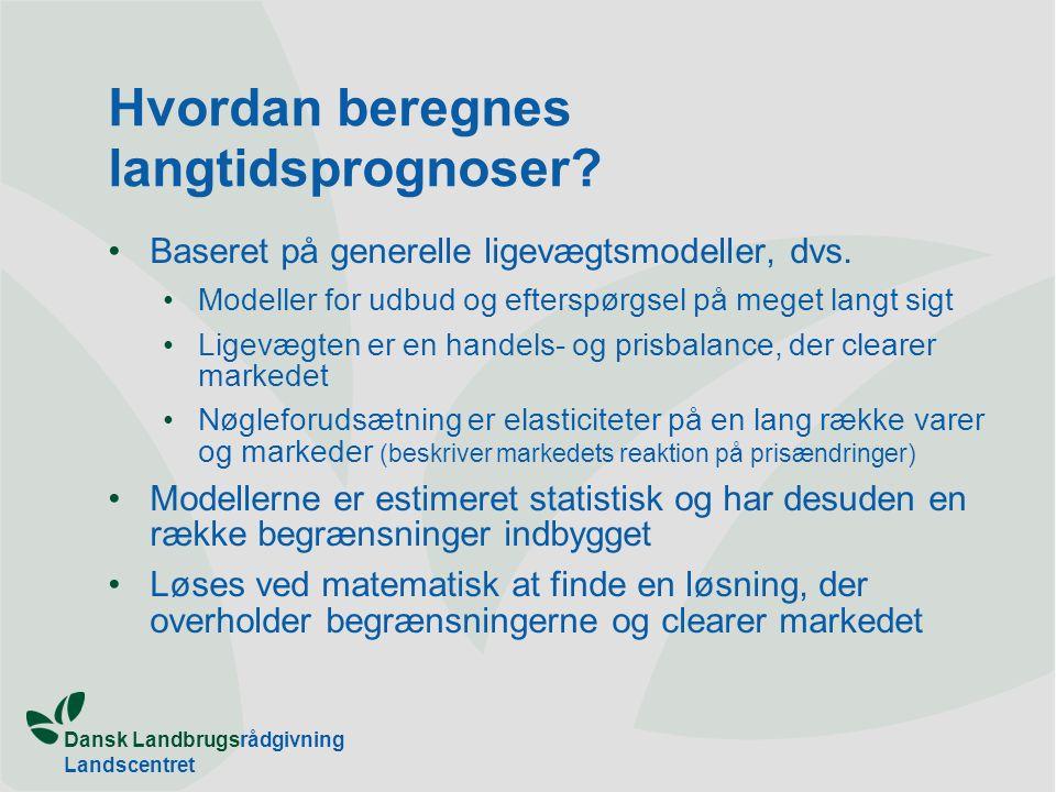 Dansk Landbrugsrådgivning Landscentret Hvordan beregnes langtidsprognoser.