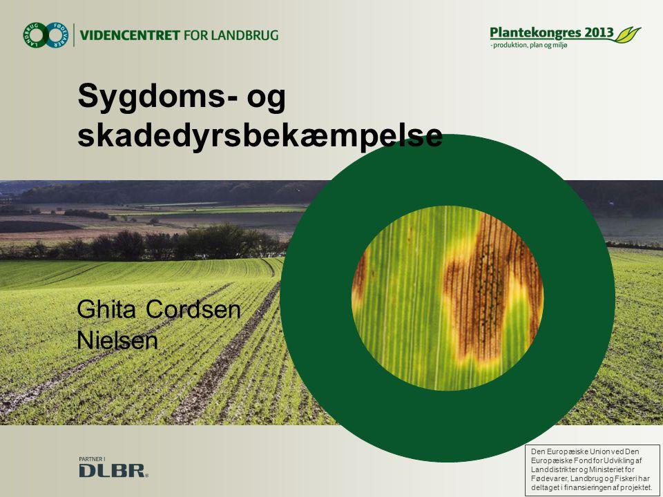 Ghita Cordsen Nielsen Sygdoms- og skadedyrsbekæmpelse Den Europæiske Union ved Den Europæiske Fond for Udvikling af Landdistrikter og Ministeriet for Fødevarer, Landbrug og Fiskeri har deltaget i finansieringen af projektet.