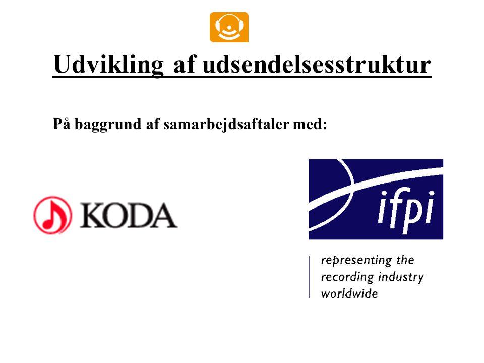 Udvikling af udsendelsesstruktur På baggrund af samarbejdsaftaler med: