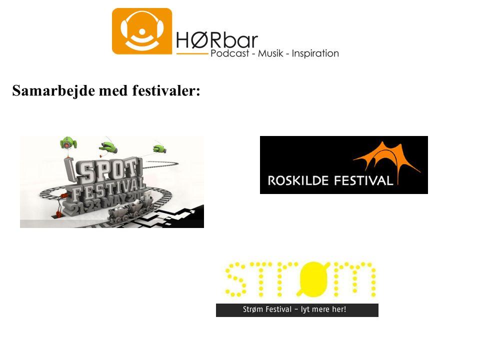 Samarbejde med festivaler: