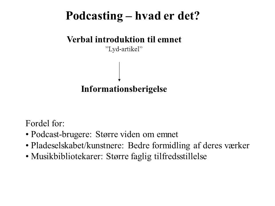 Podcasting – hvad er det.
