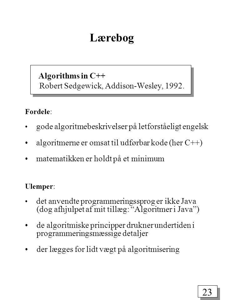 23 Algorithms in C++ Robert Sedgewick, Addison-Wesley, 1992.