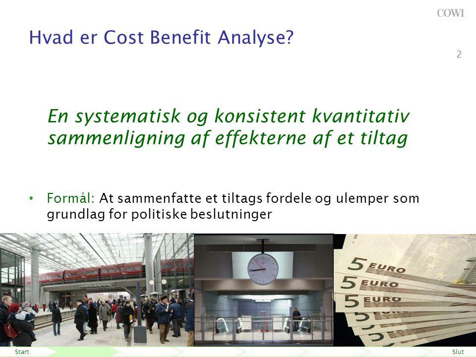 StartSlut 24 maj-06 Fremtidens beslutningsgrundlag Niels Buus Kristensen 2 Hvad er Cost Benefit Analyse.