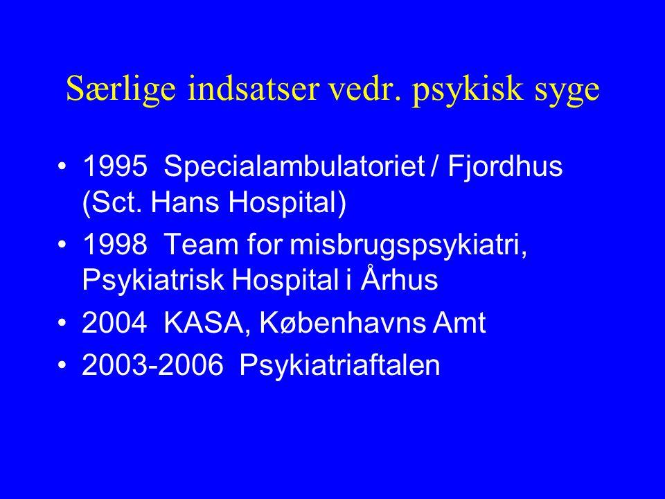 Særlige indsatser vedr. psykisk syge 1995 Specialambulatoriet / Fjordhus (Sct.