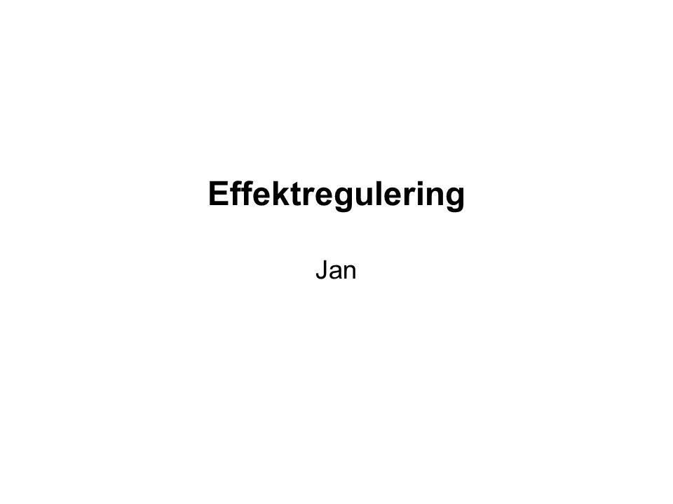 Effektregulering Jan