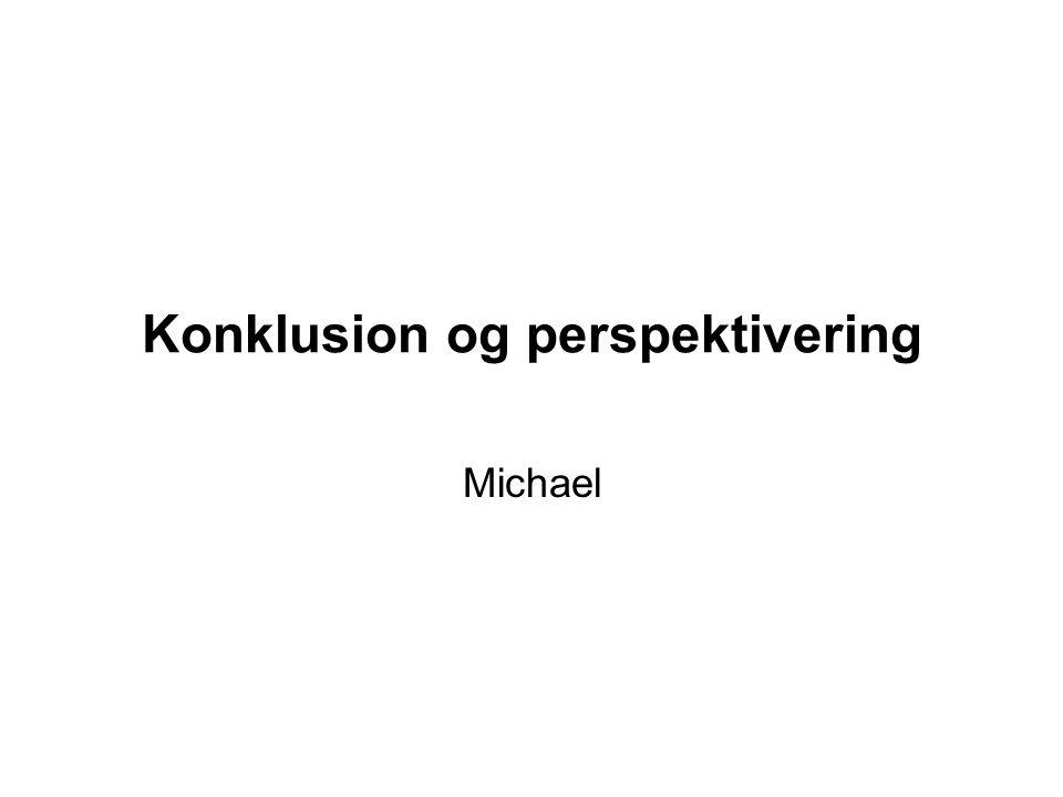Konklusion og perspektivering Michael