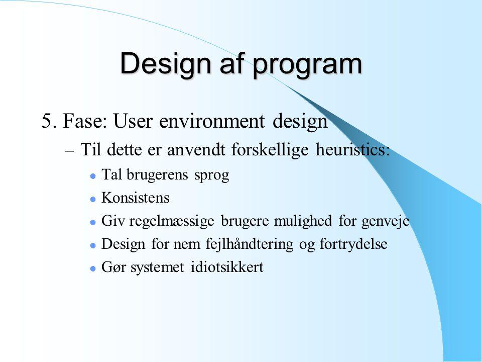 Design af program 5.