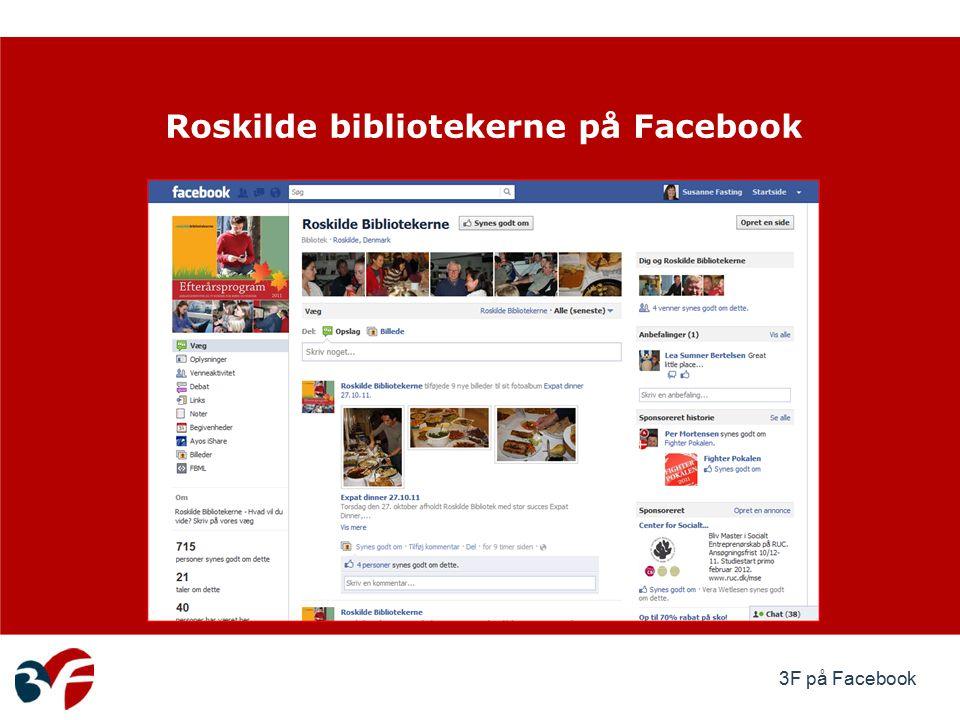 3F på Facebook Roskilde bibliotekerne på Facebook
