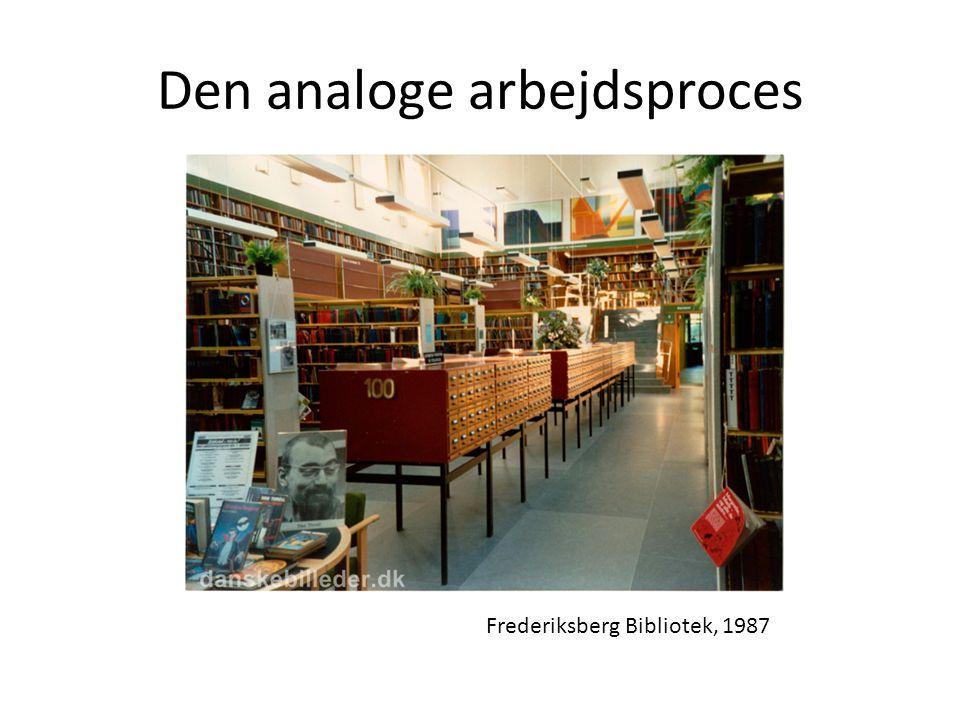 Den analoge arbejdsproces Frederiksberg Bibliotek, 1987