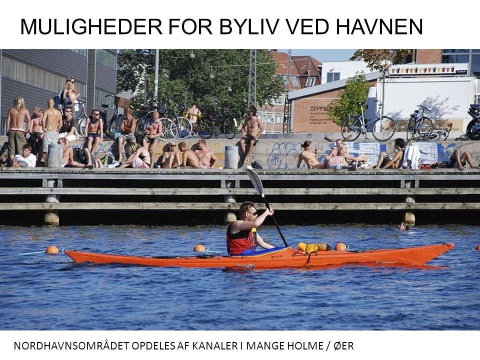 MULIGHEDER FOR BYLIV VED HAVNEN NORDHAVNSOMRÅDET OPDELES AF KANALER I MANGE HOLME / ØER
