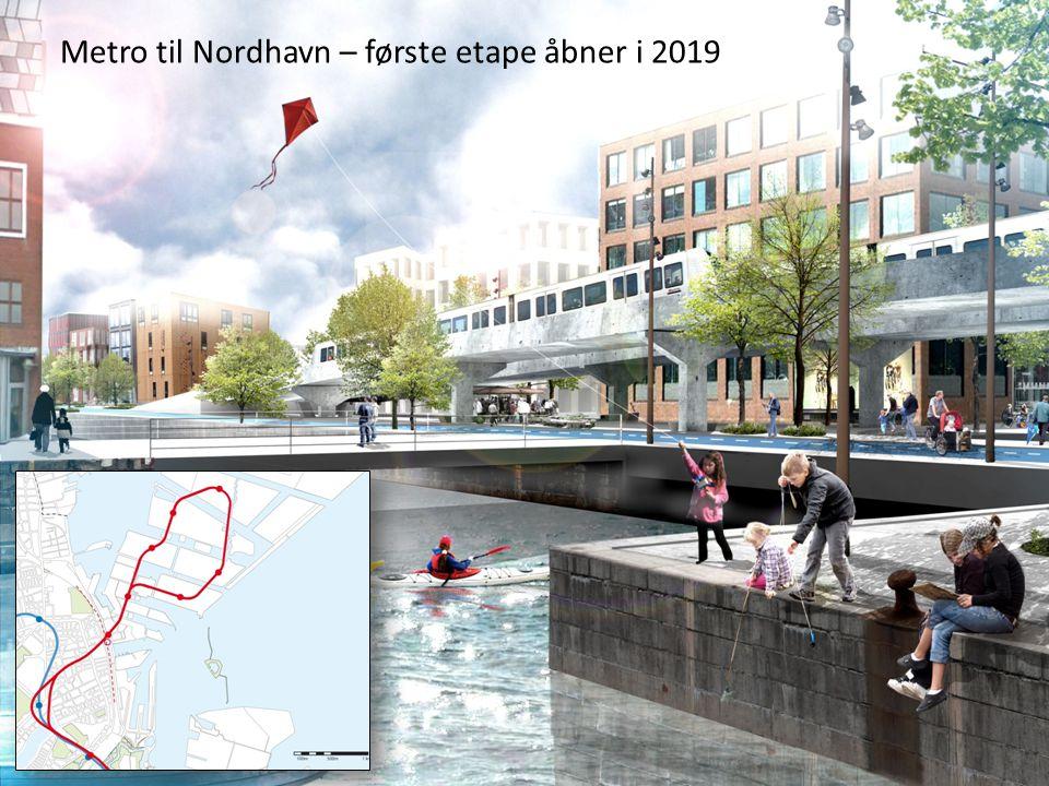 Metro til Nordhavn – første etape åbner i 2019