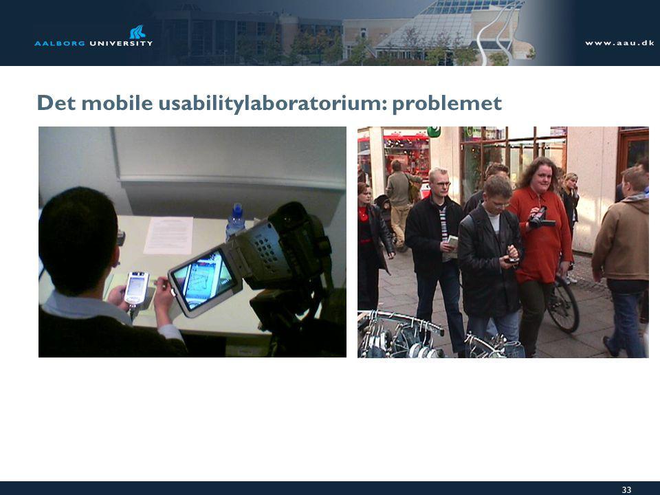 33 Det mobile usabilitylaboratorium: problemet