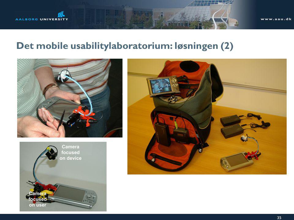 35 Det mobile usabilitylaboratorium: løsningen (2)