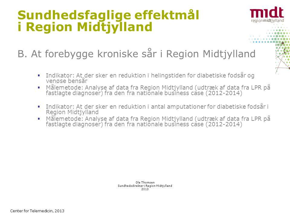 Center for Telemedicin, 2013 Sundhedsfaglige effektmål i Region Midtjylland B.