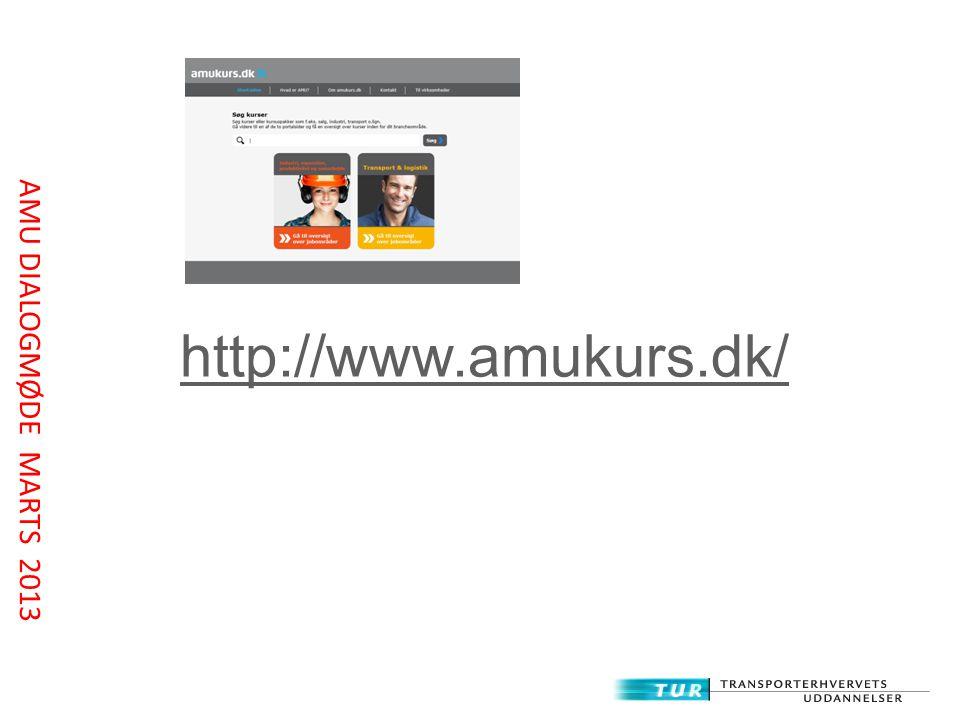 http://www.amukurs.dk/ AMU DIALOGMØDE MARTS 2013