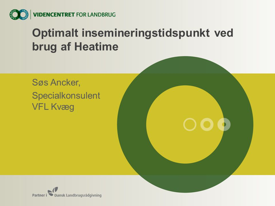 Optimalt insemineringstidspunkt ved brug af Heatime Søs Ancker, Specialkonsulent VFL Kvæg