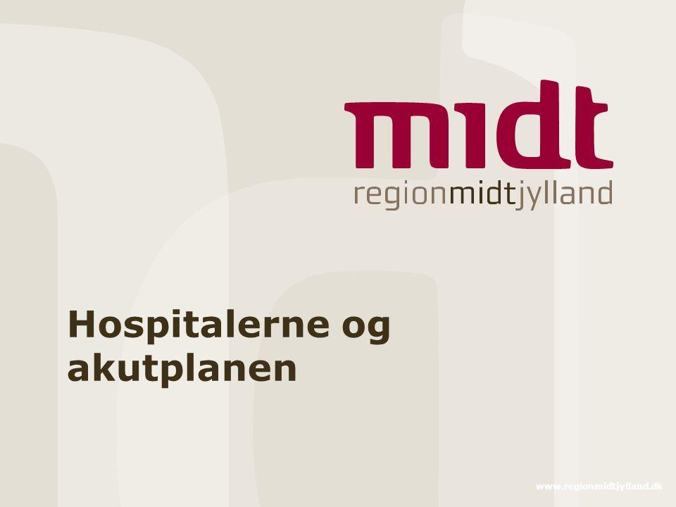 Hospitalerne og akutplanen