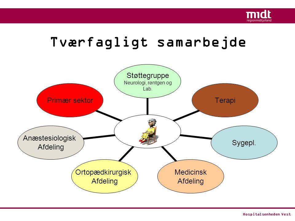 Hospitalsenheden Vest Tværfagligt samarbejde Støttegruppe Neurologi, røntgen og Lab.