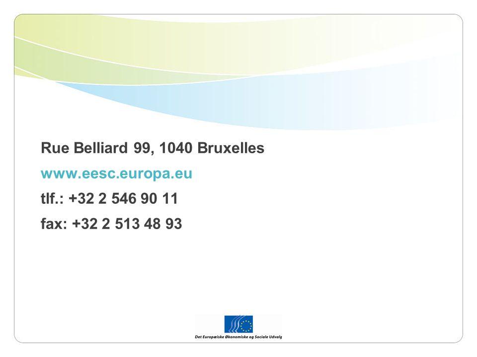 Rue Belliard 99, 1040 Bruxelles www.eesc.europa.eu tlf.: +32 2 546 90 11 fax: +32 2 513 48 93