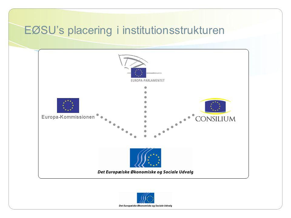 EØSU's placering i institutionsstrukturen Europa-Kommissionen