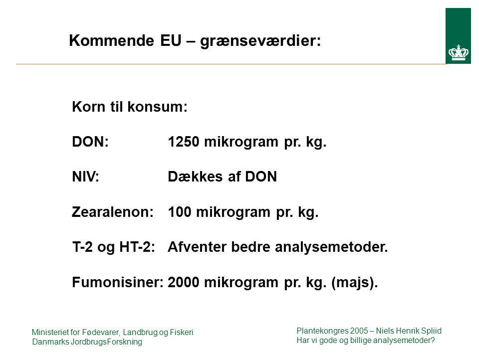 Ministeriet for Fødevarer, Landbrug og Fiskeri Danmarks JordbrugsForskning Plantekongres 2005 – Niels Henrik Spliid Har vi gode og billige analysemetoder.