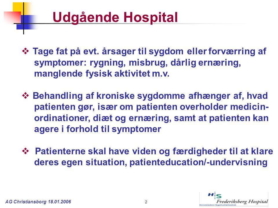 AG Christiansborg 18.01.2006 2  Tage fat på evt.