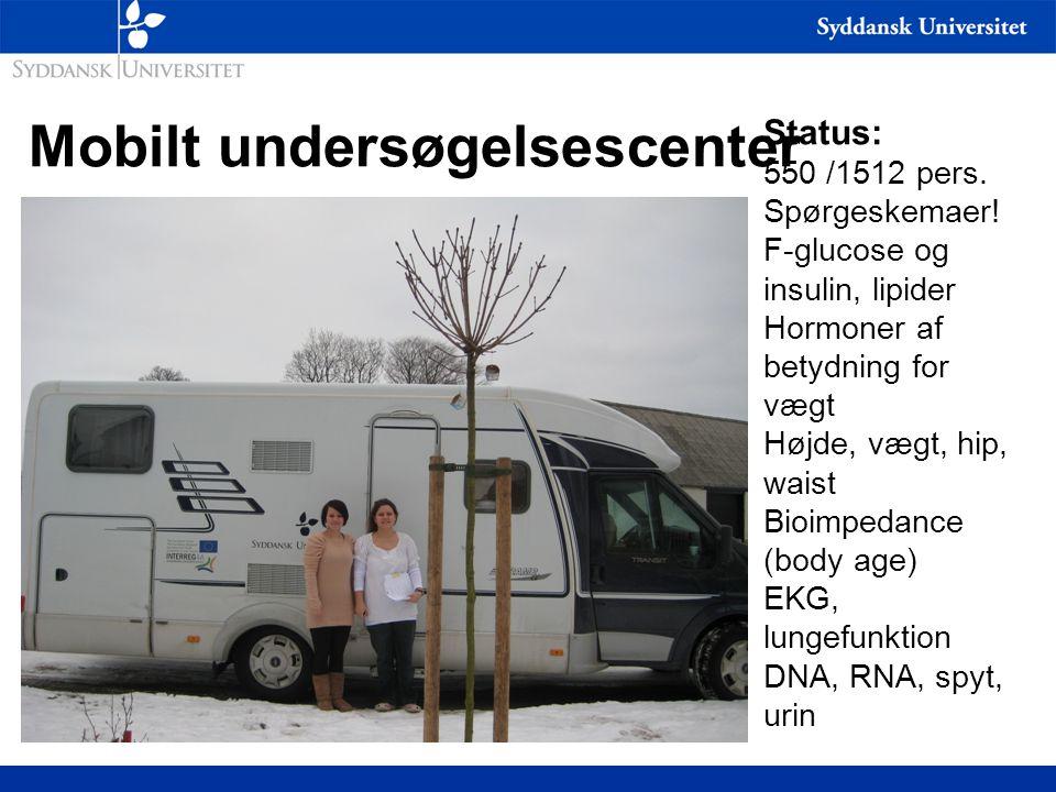 Mobilt undersøgelsescenter Status: 550 /1512 pers.